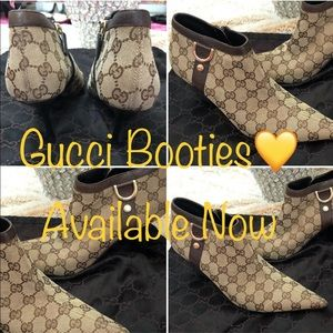 Gucci Brown Booties